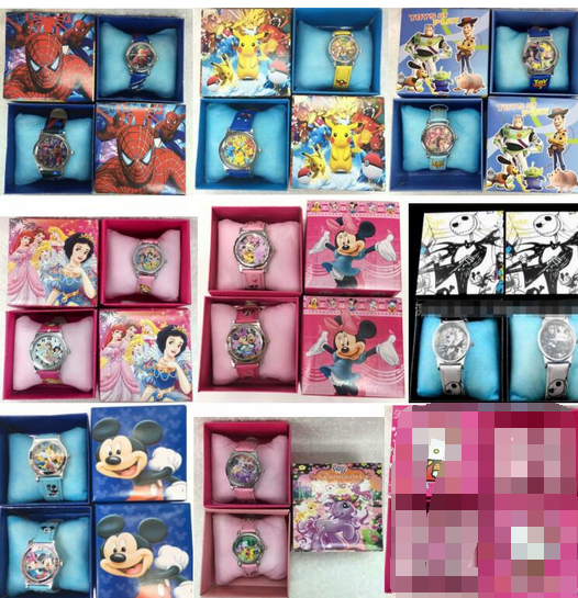 80Pcs Cartoon Mixed Kids Boys Girls Children Cartoon Quartz  Children Wristwatch Watches With Boxes Party Favors Gift Toy AD2