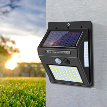 4pcs 60 LED 80 LED Solar Light Outdoor Waterproof 3 Solar Lighting PIR Sensor Wall Light, Garden Decoration Solar Energy 1