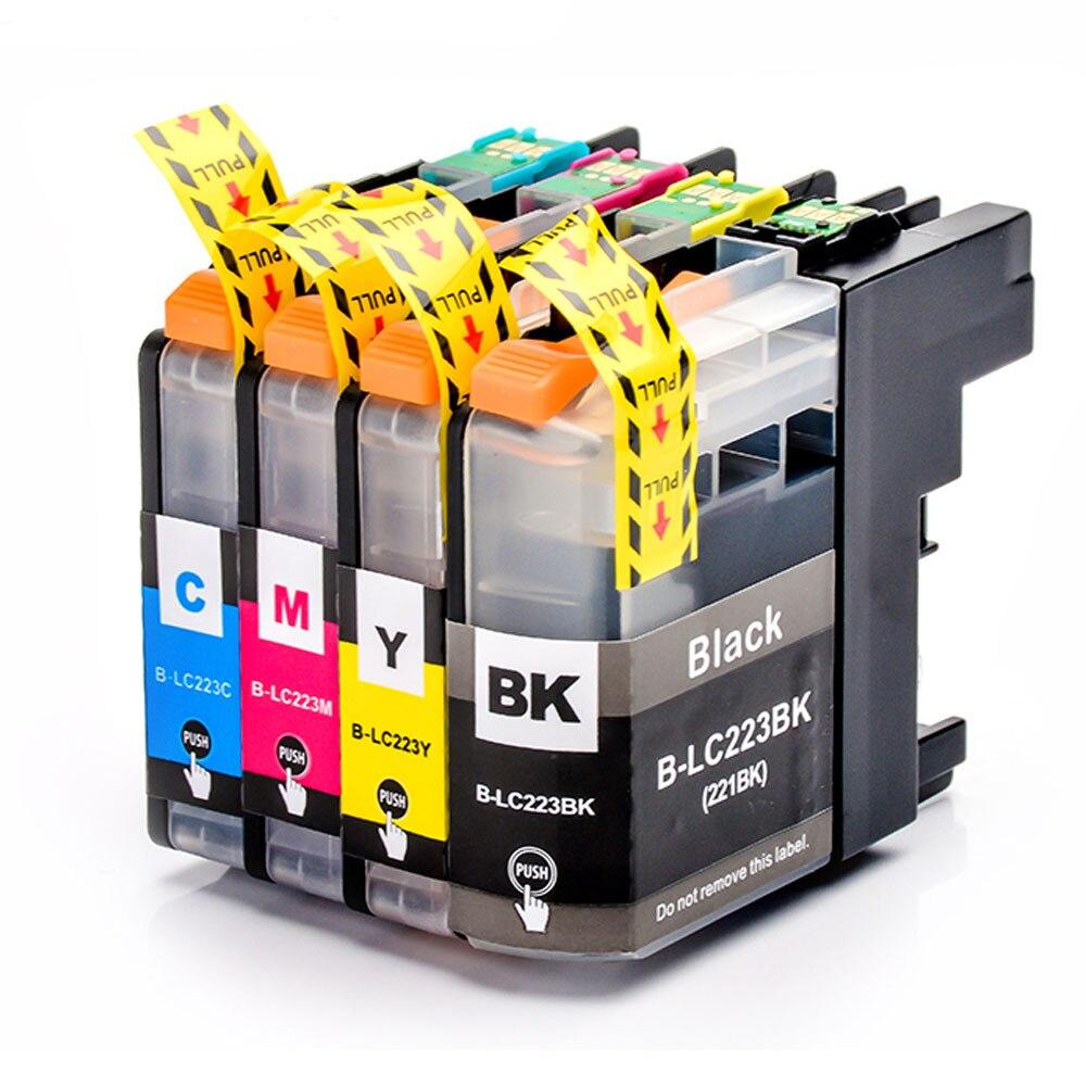 Совместимый чернильный картридж 4PK LC223xl для Brtoher DCP-J562DW/J4120DW/MFC-J480DW/J680DW/J880DW/J4620DW/J5720DW/J5320DW