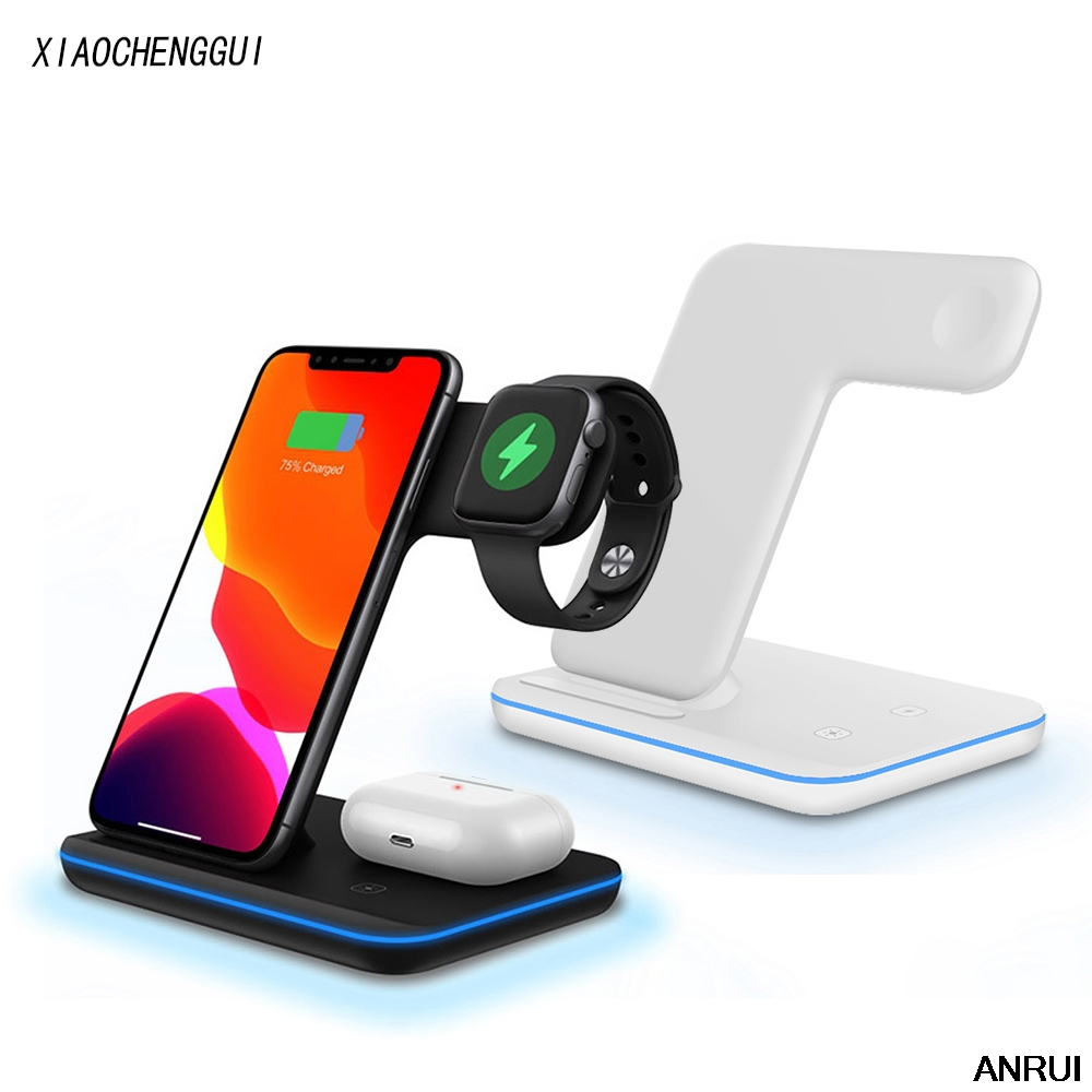 3 in <font><b>1</b></font> 15W Fast Wireless Charger Qi Charging Dock Station For <font><b>iPhone</b></font> 11 Pro XS MAX XR 8 For Apple Watch <font><b>5</b></font> 4 3 AirPods pro image