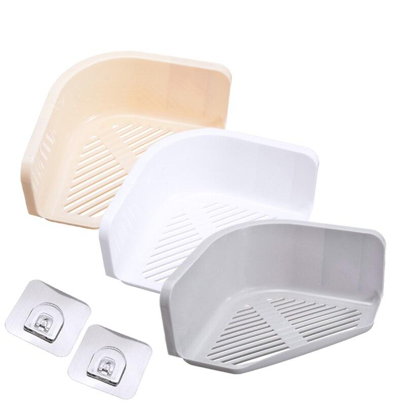 Suction Cup Corner Shower Shelf Bathroom Shampoo Shower Shelf Holder Kitchen Storage Rack Organizer 3 Colors