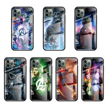 Marvel Avengers Infinity War Cassa di Vetro Per Apple iphone 11 Pro Max XS XR X 8 7 6 6S più SE 2020 Stalinite Telefono Coque Fundas C(China)