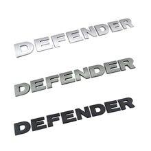 3d etiqueta do carro para land rover defender cabeça capa placa de identificação estilo do carro estéreo letras emblema logotipo adesivo defensor capa stickaer