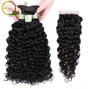 Image 2 - Sterly Water Wave Bundles With Closure Remy Human Hair Bundles With Closure Brazilian Hair Weave Bundles With Closure