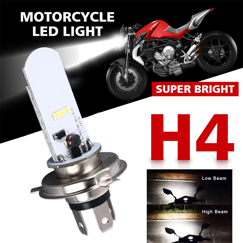 Car LED Fog Light Bulbs 400LM 8000K H4 Auto Fog Lamp Driving Motorcycle Motor Moto Headlight LED Light
