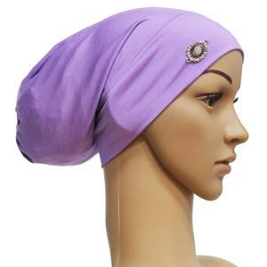 Image 3 - Rhinestone ภายใต้ผ้าพันคอผู้หญิงมุสลิม Bonnet Turban หมวกอิสลาม Headscarf อาหรับ Hijab หมวกหมวก Headwear Underscarf หมวก