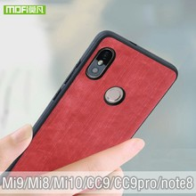 Funda Mofi para Xiaomi Mi 8, funda de silicona suave para Xiaomi cc9 pro Mi 9, funda para Xiaomi Mi9 SE, a prueba de golpes, jeans de cuero