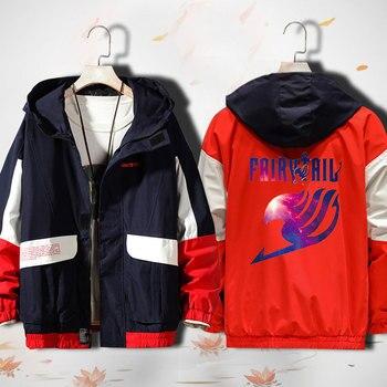 Unisex Anime Cosplay Fairy Tail Natsu Dragneel END Lucy Heartfilia Zipper Cardigan Hooded Jacket Coat
