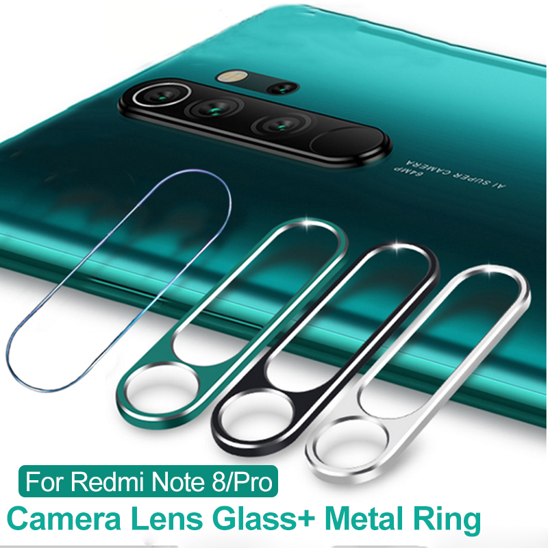 Tempered Glass On For Xiaomi Redmi Note 8 Pro 9s 8pro Case For Redmi Note 8T 8 Glass Protector Camera Lens Protective Ring Cover 1