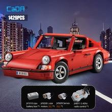 Cada 1429 sztuk Creator techniczne RC klasyczne Retro sportowe samochodowe klocki budowlane miasto pilot samochód wyścigowy cegły zabawki dla chłopców