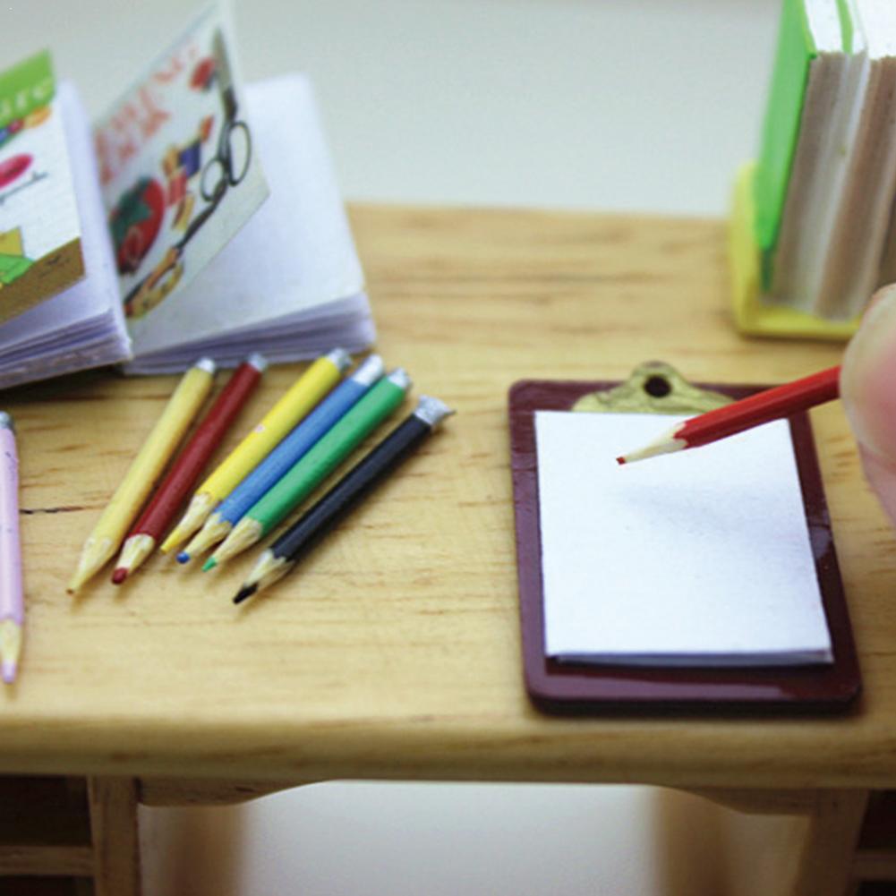 1piece Creative Mini Writing Clip Cardboard Cute Paper Clipboard Dark Toys Miniature Brown Accessories Children's Decoratio R1U5