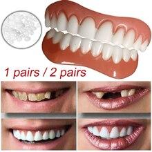 Upper/Lower Cosmetic Cosmetic Teeth Veneer Dentures for Women and Men Oral Care Beauty