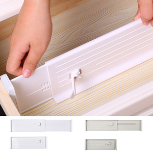 Retractable Drawer Divider Adjustable Drawers Partition Board White Spring Loaded Expandable High Quality Home Kitchen Organizer