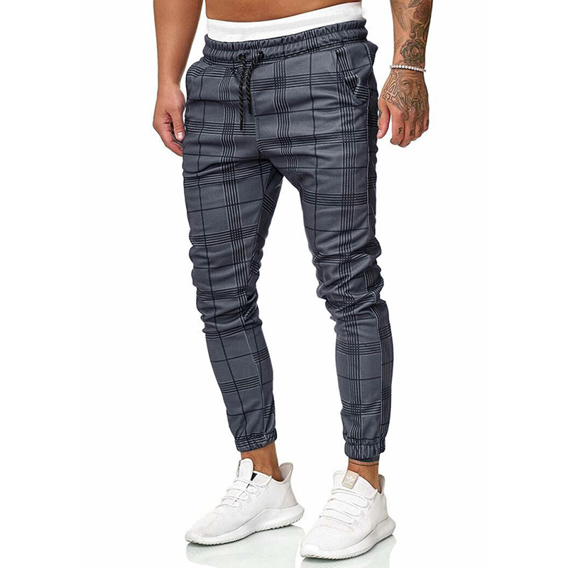 Men Pants Trousers Runners Streetwear Joggers Plaid Fashion Casual High-Quality New Hip-Hop