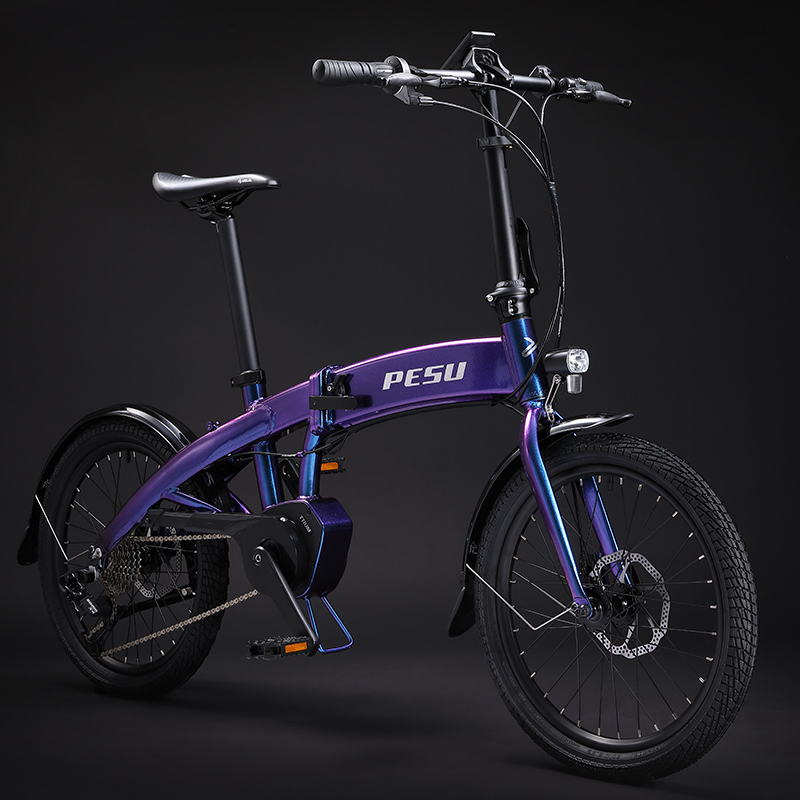 "Stealth folding electric bike ebike 250W 36V hidden battery 20/"""