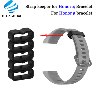 Image 1 - Ecsem 16mm רצועת Keeper לכבוד 4 להקת סיליקון לולאה שעון החלפה התמך חישוק גומי מקדמה בעל ביטחון