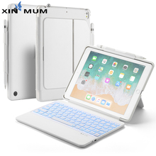 цена на 7 Color Backlit Bluetooth Keyboard case for iPad Air 1/ iPad Air 2/2017 2018 New iPad 9.7 iPad Pro 9.7 Tablet Keyboard TPU Cover