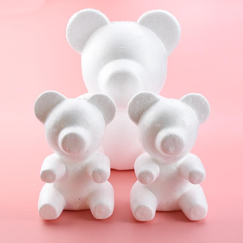 Bear-Of Mold Foam Teddy Styrofoam Gifts Roses Artificial-Flowers Polystyrene Valentine's-Day-Present