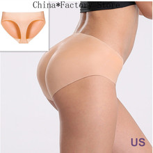 New Fashion Sexy Full Silicone Underwear Butt Enhancer Trangle Pant Body Pads Shaper Wear Body Shapewear Pants Gift