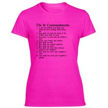 Funny 10 Commandments T Shirt Men Hipster Crew Neck Women T Shirts Oversize S-5xl Pop Top Tee(China)