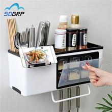 Jar Storage-Rack Seasoning Multi-Function-Rack Kitchen Wall-Mounted Vanilla Food-Grade-Material