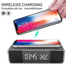 2021 Новый Беспроводной Зарядное устройство зарядная станция поддерживает IOS и Android, поддержка Bluetooth, 3 в 1 светодиодный Электрический Динамик ...