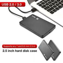 Gabinete hdd de 2.5 polegadas sata, disco rígido externo hdd 5gbps, caixa de caixa opcional, interface usb 3.0/usb 2.0 para windows/macbook