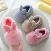 Children girls cotton slippers boys home shoes winter/autumn