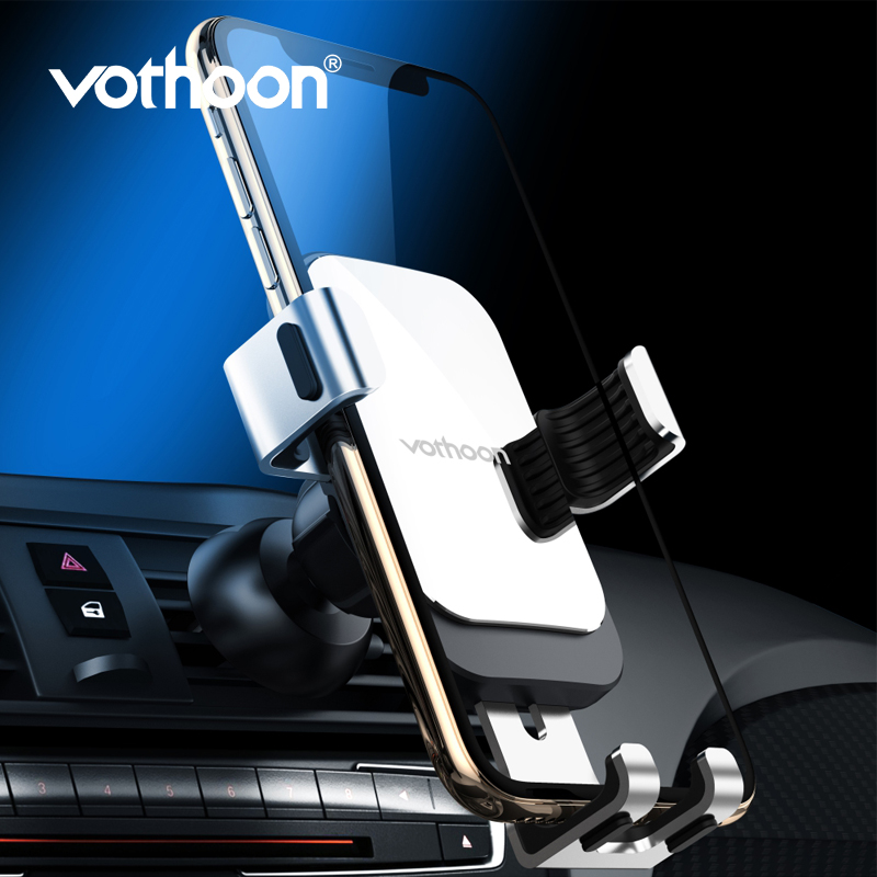 Vothoon Universal Air Vent Mount Car Phone Holder For iphone Xs Max Samsung S10 Xiaomi Huawei Gravity Mobile Car Phone Holder title=