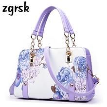Shoulder Bag Hot Large Solid Cartoon Printing Zipper Pu Leather Designer Handbags High Quality Vintage Bags Sac A Main