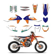 New Bull Full Graphics Decals Stickers Custom Number For KTM 125 250 300 350 450 EXC EXCF XCW XC XCF 2017 2018 2019 new style team graphics with matching backgrounds decals stickers for ktm exc 125 200 250 300 350 450 500 2012 2013 xc 2011