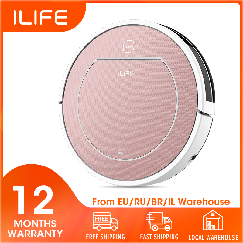 ILIFE Mopping-Disinfection Carpet Robot-Vacuum-Cleaner Wet Sweep Automatically-Charge