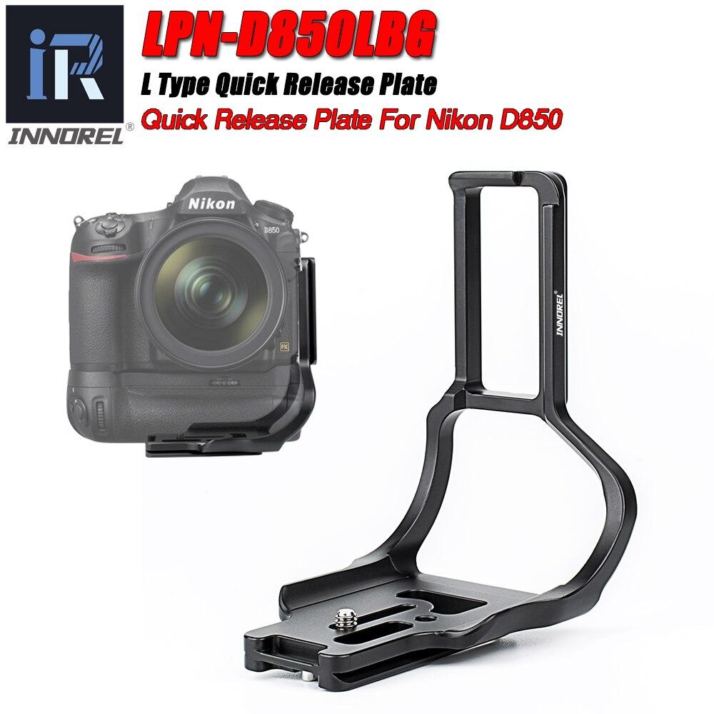 Placa de Liberação Gravação de Vídeo para Nikon Cabeça do Tripé Câmera Suporte Rápida 1 – 4 Parafuso Arca Swiss D850 Vertical Dslr Lpn-d850lbg l