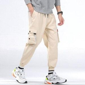 Image 2 - กางเกงCargoผู้ชายหลายกระเป๋าผ้าฝ้ายCamo Camouflage PantalonesยุทธวิธีMilitar Jogger Sweatpantsวัยรุ่น 7XL 8XLกางเกงชาย