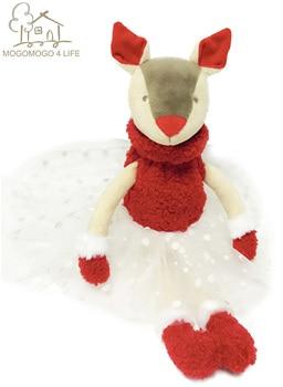 Luxury Ballet Reindeer Soft Toys Ballerina Deer Doll Princess Deer Doll Gift  Christmas Ornarment Toy For Home/Shop/Office christmas reindeer doll xmas shop window home party decor ornament gift