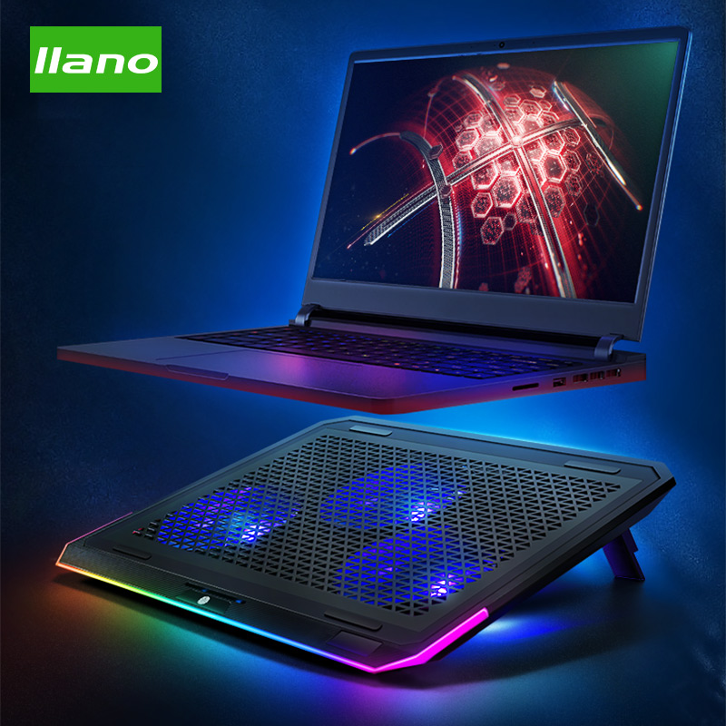 Llano Turbo Notebook Cooler Notebook Stand Cooling Frame Angle Adjustable Stepless Speed Regulation for Notebook / Tablet Phone