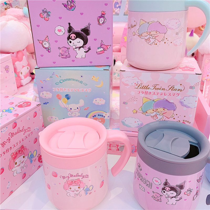 Cartoon Melody Kuromi Vacuum Thermal Food Container Thermos Cup Portable Stainless Steel Vacuum Flask Insulated Thermo CupHome
