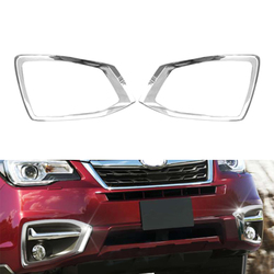 ABS Chrome Car Front Fog Light Bumper Lamp Molding Cover Trim For Subaru Forester 2016 2017 2018 Decorated Accessory