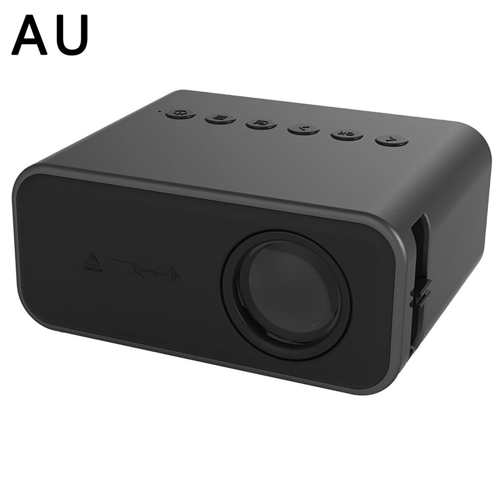 YT500 projector and wired same screen portable LED projector home media player 3D cinema video smart projector black