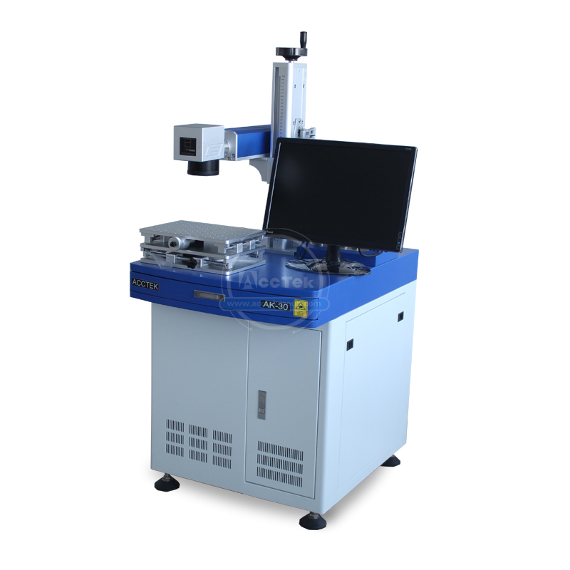 Factory Direct 30W Raycus Fiber Laser Metal Marking Machine Mini Laser Engraving Machine For Aluminum Gold, Silver And Copper