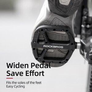 Image 5 - ROCKBROS 초경량 씰 베어링 자전거 자전거 페달 사이클링 나일론 도로 bmx Mtb 페달 플랫 플랫폼 자전거 부품 액세서리
