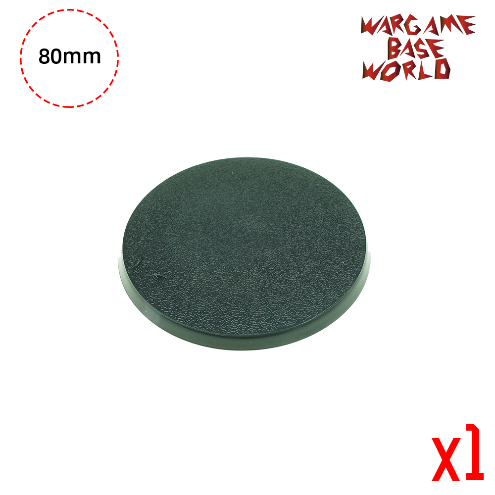 Wargame Base World - 80mm Round Bases