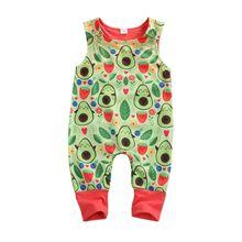 0-24M Cute Newborn Baby Boy Girl Sleeveless Print Cotton Romper Jumpsuit Playsui