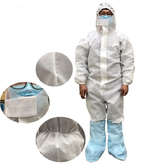 Coveralls Safety Protective Suit Workwear PPE Clothing Protection Hazmat Suit For Outdoors Hospital Laboratory Workshop 4