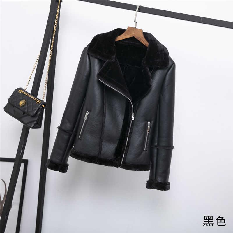 秋と冬のファッション毛皮 1 女性のジャケット 2019 冬の新ナイト暖かいカジュアル女性の moto バイカージッパージャケット K029