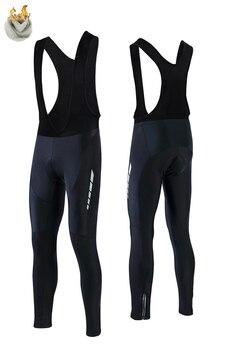 Pantalones térmicos con almohadilla de Gel 19D para Ciclismo, mallas para bicicleta...