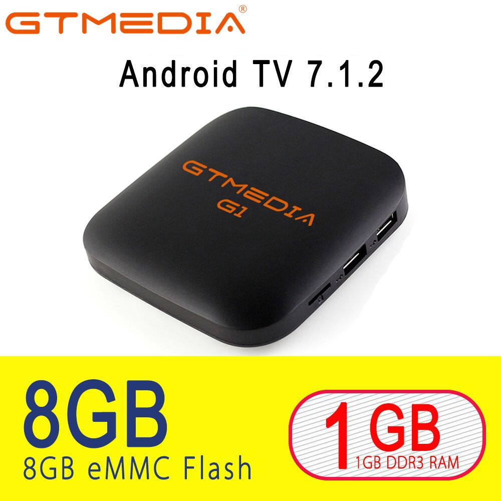 цена на GTMEDIA G1 Smart TV Box Android 7.1 1GB 8GB Media player 4K Google Youtube Amlogic S905W PK H96MAX 2GB 16GB Support IPTV Xstream