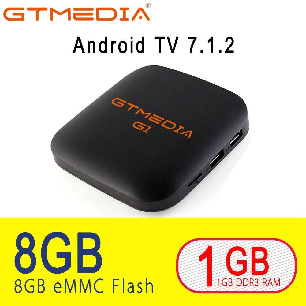 GTMEDIA G1 Smart TV Box Android 7.1 1GB 8GB Media Player 4K Google Youtube Amlogic S905W PK H96MAX 2GB 16GB Support IPTV Xstream