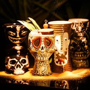 Image 4 - Tiki canecas personalidade havaiano cocktail copo criativo canecas cerâmica copo copo zombie copo cerâmica tazas de ceramica creativas