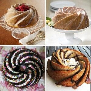 Image 5 - 3D מטבח אפיית עובש עוגת סיליקון צורת מערבולת גדולה כלי טופס עבור מאפיית עוגת עוגת עובש בישול תבנית אפייה פאן